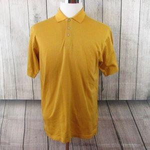 Alan Flusser Yellow Golf Performance Polo Shirt